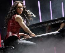 Alicia Keys no Pav. Atlântico (Foto Lusa - João Relvas)